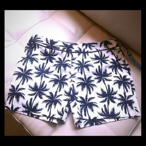 Cynthia Rowley Brand New Palm Tree Shorts